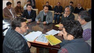 Altaf Bukhari reviews achievements under district plan for Baramulla