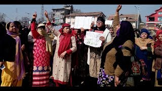 Anganwadi workers stages protest in Srinagar, demands hike in salaries