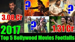 Top 5 Bollywood Movies Footfalls 2017 I Tiger Zinda