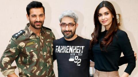 John Abraham & Diana Penty Pose For Parmanu's Photoshoot