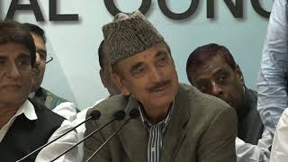 AICC Press Briefing By Ghulam Nabi Azad welcoming Nasimuddin Siddiqui to the congress Party