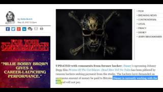 Pirates Of The Caribbean Leaked, Hackers Demand Money
