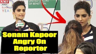 Frustrated Sonam Kapoor Angry On Reporter Over Deleting Deepika's video