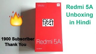 MI Redmi 5A Unboxing In Hindi | Best Smartphone In Budget | Hindi | Tech Render