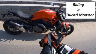 Riding a Monster. The Ducati Monster 821 in India.