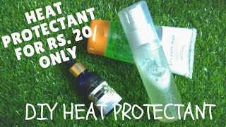Rs.20 HEAT PROTECTANT???? | DIY HEAT PROTECTANT SPRAY FOR HAIR (IN HINDI) | 3 INGREDIENTS HAIR SPRAY