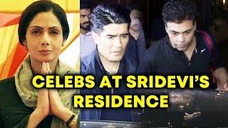 Karan Johar, Manish Malhotra And More VISITS Sridevi's House For Condolence