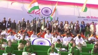 Ghaziabad - 50 thousand Chidren's sing Vande Matram together in UP Deputy CM Dinesh Sharma Presence