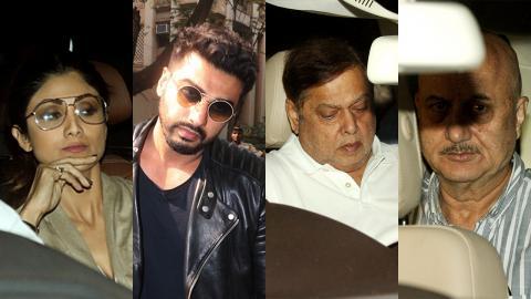 Arjun Kapoor, Shilpa Shetty, David Dhawan, Anupam Kher Visit Anil Kapoor's House