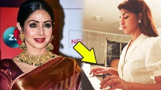 Jacqueline Fernandez PAYS TRIBUTE To Sridevi By Playing Piano