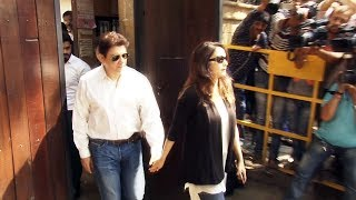 Madhuri Dixit With Husband At Anil Kapoor's House To Pay Last Respect To Sridevi