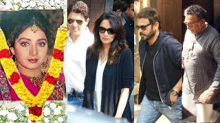 SRIDEVI - Madhuri Dixit, Karan Johar, Venkatesh & Other Celebs Visit At Anil Kapoor House