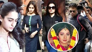 SRIDEVI - Sara Ali Khan, Ameesha Patel, Genelia D'Souza & Other Celebs Visit At Anil Kapoor House