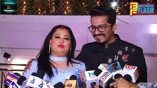 Comedian Bharti Singh & Her Husband Harsh At Deepika - Sohaib GRAND Wedding Reception