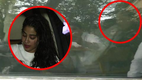 Janhvi & Khushi Kapoor Leave Anil Kapoor's Residence As Sridevi's Remains Are Coming Home