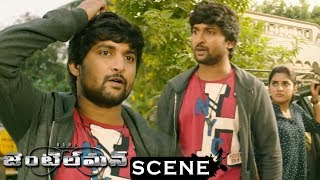Gentleman Movie Scenes - Nani Gets To Know ABout Niveda Thomas - Nani Fight With Niveda Uncle