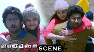 Gentleman Movie Scenes - Nani And Surabhi Wins Hill Climbing Race - Event Guy Takes Of The Reward