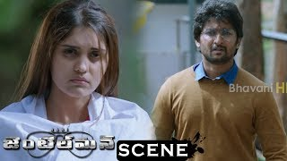 Gentleman Movie Scenes - Surabhi Suffering From Fever - Nani Survives For Money And Works