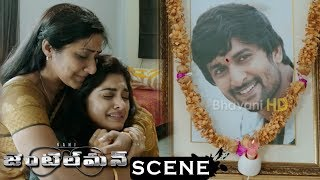 Gentleman Movie Scenes - Niveda Comes To Nani House - Nani's Mothers Tells About Nani Death