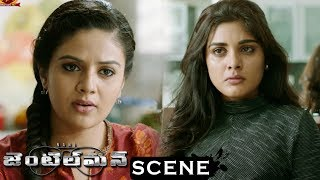 Gentleman Movie Scenes - Sreemukhi Comes To Niveda's House - Sreemukhi Tells About Nani's Death