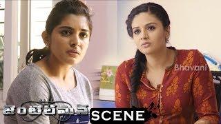 Gentleman Movie Scenes - Sreemukhi Comes To Niveda Thomas - Sreemukhi Doubts On Nani Death