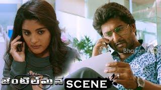 Gentleman Movie Scenes - Niveda Wants Help From Vennela Kishore - Nani Listens To Niveda Secret Call