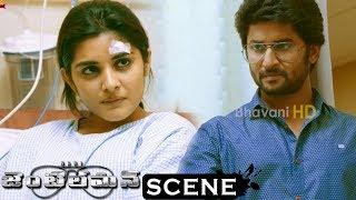 Gentleman Movie Scenes - Srinivas Blackmails Nani - Niveda And Vennela Kishore Mets With An Accident