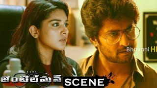 Gentleman Movie Scenes - Sreemukhi Meets Niveda - Niveda Enters Into Nani Office Secretly