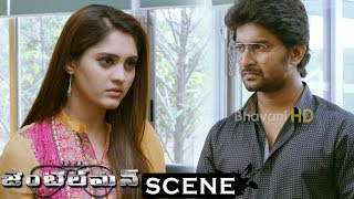 Gentleman Movie Scenes - Surabhi Finds His Clothes With Niveda - Sreemukhi Calls Niveda For Nani
