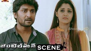 Gentleman Movie Scenes - Srinivas Blackmails Nani(Gautham) - Surabhi Listens To Nani Facts