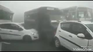 Big News -Yamuna Expressway Accident Full Viral Video Due to Fog low visibility