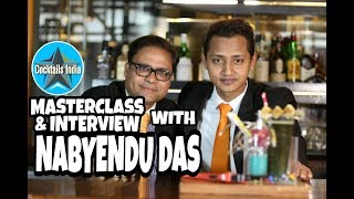 masterclass and interview with nabyendu das | how to make dark and deep cocktail | dada bartender