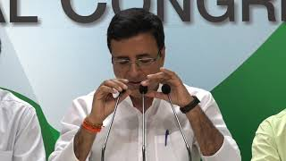 AICC Press Briefing By Randeep Singh Surjewala in Congress HQ on the Banking Scam