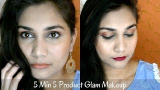 Glam Makeup - 5 Products under 5 mins with products under rs200 | Wedding Guest Makeup for Teenagers