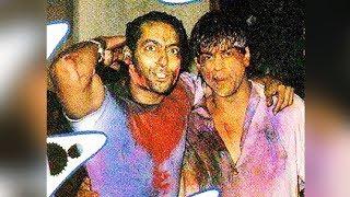 Salman And Shahrukh Khan Celebrating Holi RARE Pic Goes Viral