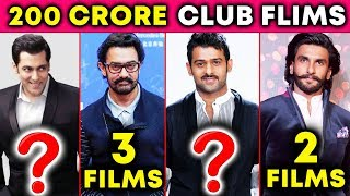Who Is The KING Of 200 CRORE CLUB Of Bollywood | Salman Khan, Aamir Khan, Ranveer Singh, Prabhas