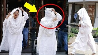 ANGRY Rekha Covers Her Face And Hides Herself From Media