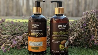 REVIEW ON WOW SHAMPOO AND CONDITIONER