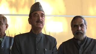 Leader of Opposition Ghulam Nabi Azad and Anand Sharma on the Banking Scam