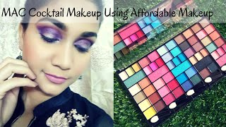 MAC Cocktail Glam Makeup Using Affordable Makeup Under rs. 400 | Epic Disaster | Nidhi Katiyar