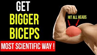 Most Scientific Workout to GET BIGGER BICEPS (Hit All Heads) | ARMS TRAINING Part 1