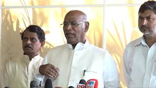 LoP Lok Sabha Mallikarjun Kharge addresses media on statue vandalism