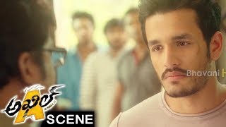 Akhil Emotional Scene With Rajendra Prasad - Akhil Movie Scenes