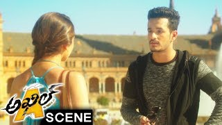 Akhil Meets Sayesha In Europe To Catch Vennela Kishore - Comedy Scene - Akhil Movie Scenes
