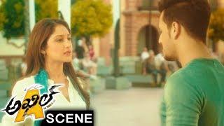 Akhil And Sayesha Best Love Scene - Jaya Prakash Reddy Comedy - Akhil Movie Scenes