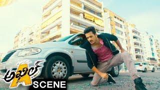 Akhil Stunning Action Scene - Goons Kidnaps Sayesha - Akhil Movie Scenes