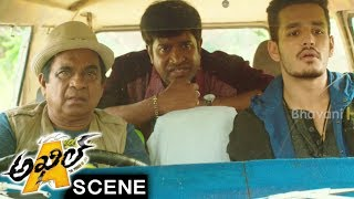 Akhil And Vennela Kishore Superb Comedy Scene - Akhil Movie Scenes