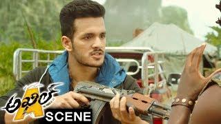 Akhil Fools Brahmanandam And Saves Sayesha From Mambo - Akhil Movie Scenes