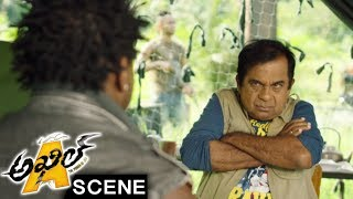 Akhil Escapes From Mambo - Brahmanandam Comedy Scene - Akhil Movie Scenes