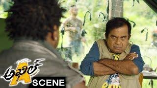 Akhil Escapes From Mambo - Brahmanandam Comedy Scene - Akhil Movie Scenes